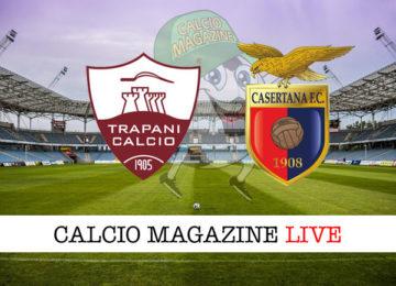 Trapani Casertana cronaca diretta live risultato in tempo reale