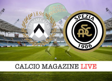 Udinese Spezia cronaca diretta live risultato in tempo reale
