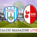 Virtus Francavilla Bari cronaca diretta live risultato in tempo reale