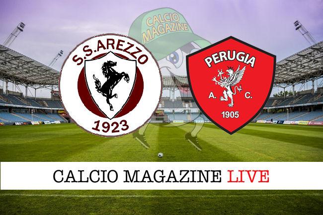 Arezzo Perugia cronaca diretta live risultato in tempo reale