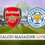 Arsenal Leicester cronaca diretta live risultato in tempo reale