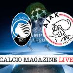 Atalanta Ajax cronaca diretta live risultato in tempo reale