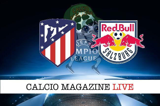 Atletico Madrid Salisburgo cronaca diretta live risultato in tempo reale