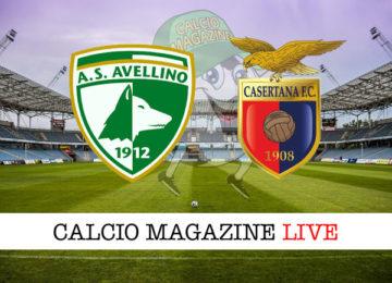 Avellino Casertana cronaca diretta live risultato in tempo reale