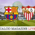 Barcellona Siviglia cronaca diretta live risultato in tempo reale