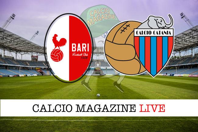 Bari Catania cronaca diretta live risultato in tempo reale