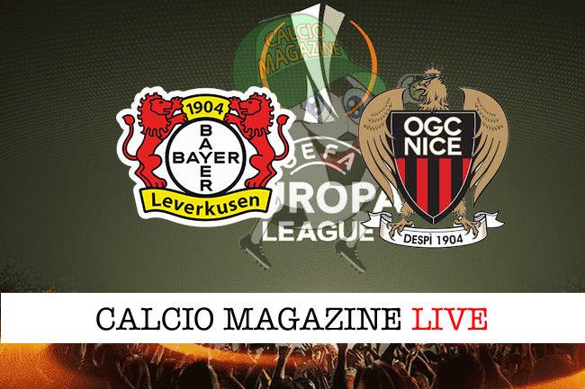 Bayer Leverkusen Nizza cronaca diretta live risultato in tempo reale