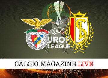 Benfica Standard Liegi cronaca diretta live risultato in tempo reale