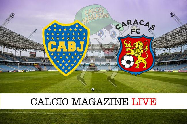 Boca Juniors Caracas cronaca diretta live risultato in tempo reale