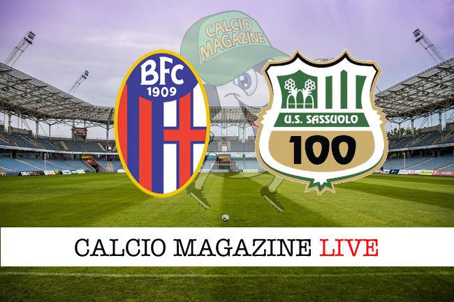 Bologna Sassuolo cronaca diretta live risultato in tempo reale