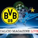 Borussia Dortmund Zenit cronaca diretta live risultato in tempo reale