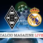 Borussia M'Gladbach Real Madrid cronaca diretta live risultato in tempo reale