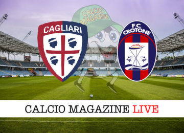 Cagliari Crotone cronaca diretta live risultato in tempo reale