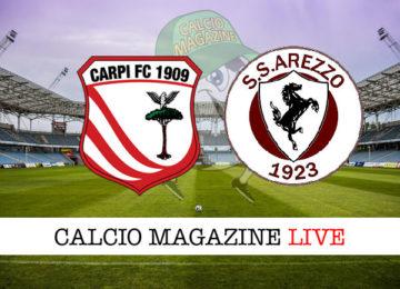 Carpi Arezzo cronaca diretta live risultato in tempo reale