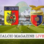 Casertana Catanzaro cronaca diretta live risultato in tempo reale
