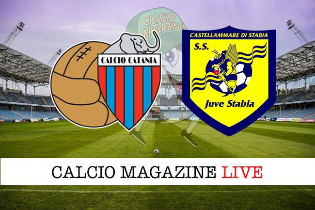 Catania Juve Stabia cronaca diretta live risultato in tempo reale