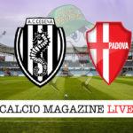 Cesena Padova cronaca diretta live risultato in tempo reale
