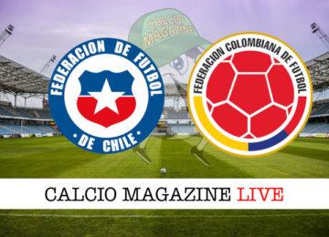 Cile Colombia cronaca diretta live risultato in tempo reale