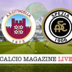 Cittadella Spezia cronaca diretta live risultato in tempo reale