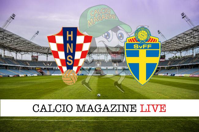 Croazia Svezia cronaca diretta live risultato in tempo reale