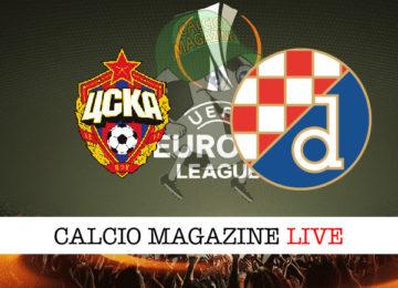 CSKA Mosca Dinamo Zagabria cronaca diretta live risultato in tempo reale