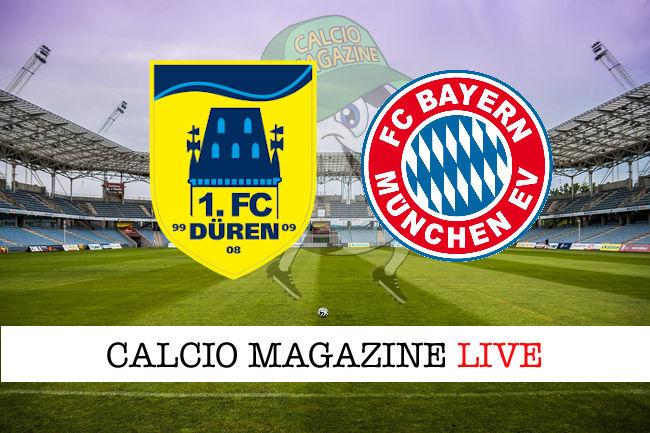 Duren Bayern Monaco cronaca diretta live risultato in tempo reale