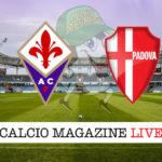 Fiorentina Padova cronaca diretta live risultato in tempo reale