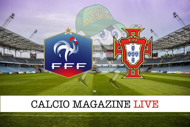 Francia Portogallo cronaca diretta live risultato in tempo reale