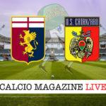 Genoa Catanzaro cronaca diretta live risultato in tempo reale