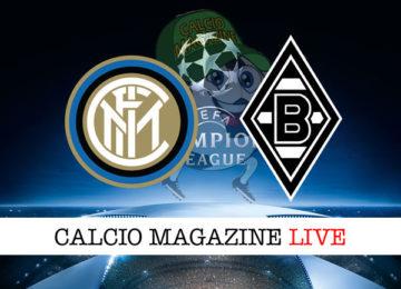 Inter Borussia M'Gladbach cronaca diretta live risultato in tempo reale