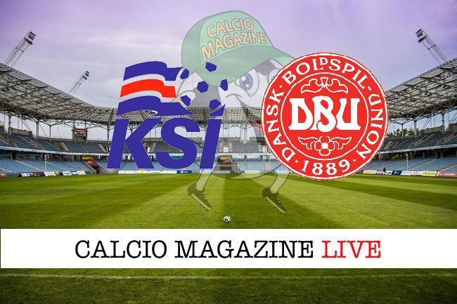 Islanda Danimarca cronaca diretta live risultato in tempo reale