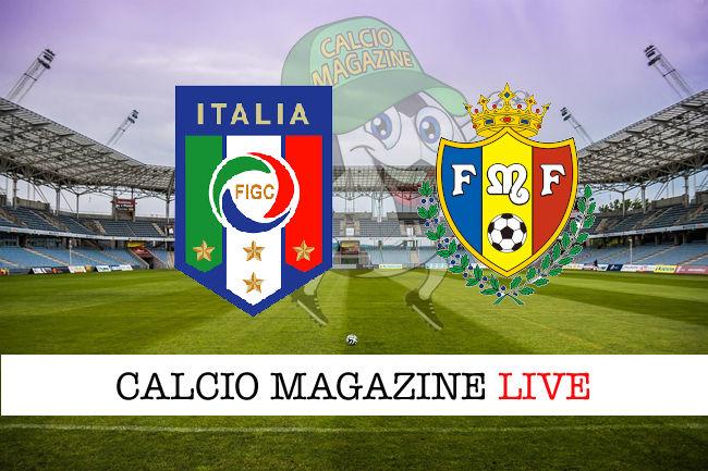 Italia Moldavia cronaca diretta live risultato in tempo reale