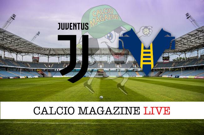 Juventus Hellas Verona cronaca diretta live risultato in tempo reale