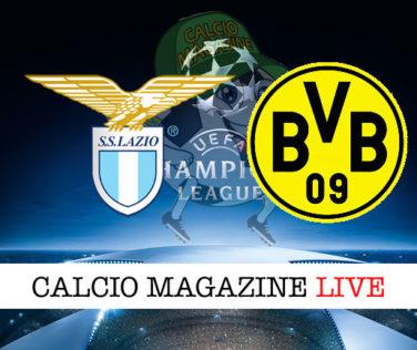 Lazio Borussia Dortmund cronaca diretta live risultato in tempo reale