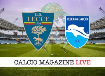 Lecce Pescara cronaca diretta live risultato in tempo reale