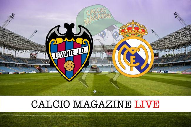 Levante Real Madrid cronaca diretta live risultato in tempo reale