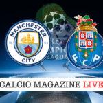Manchester City Porto cronaca diretta live risultato in tempo reale