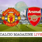Manchester United Arsenal cronaca diretta live risultato in tempo reale