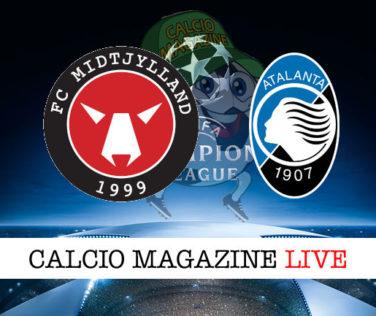 Midtjylland Atalanta cronaca diretta live risultato in tempo reale
