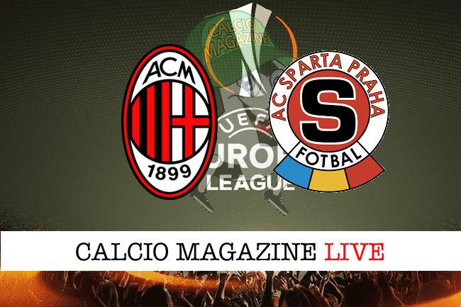 Milan Sparta Praga cronaca diretta live risultato in tempo reale