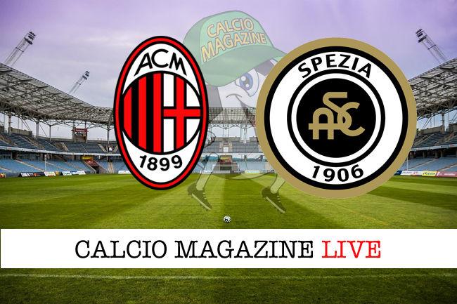 Milan Spezia cronaca diretta live risultato in tempo reale