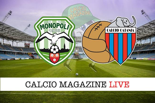 Monopoli Catania cronaca diretta live risultato in tempo reale