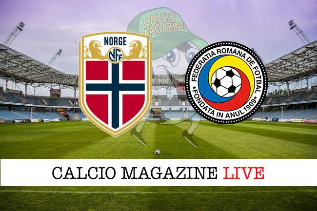 Norvegia Romania cronaca diretta live risultato in tempo reale
