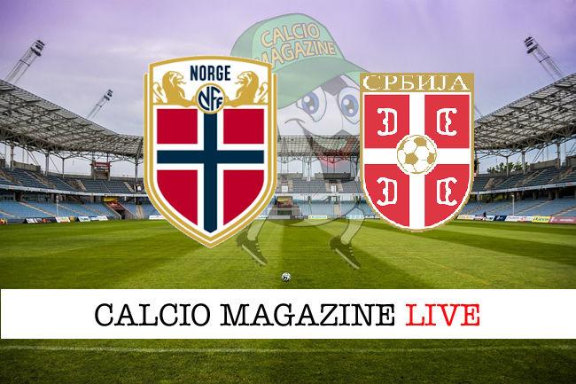 Norvegia Serbia cronaca diretta live risultato in tempo reale