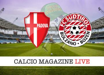 Padova Sudtirol cronaca diretta live risultato in tempo reale