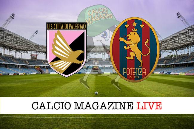 Palermo Potenza cronaca diretta live risultato in tempo reale