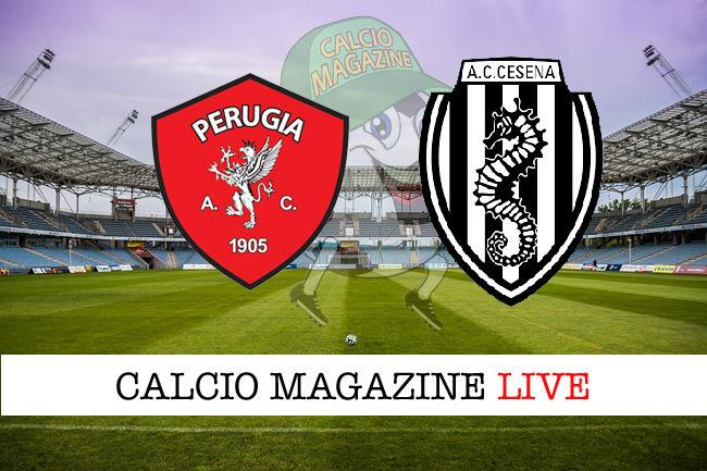 Perugia Cesena cronaca diretta live risultato in tempo reale