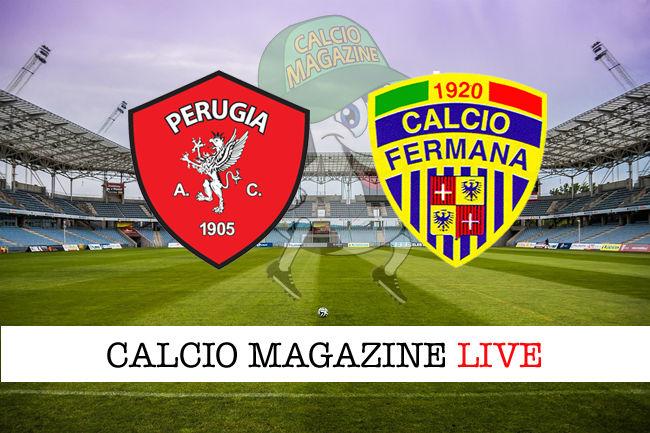 Perugia Fermana cronaca diretta live risultato in tempo reale