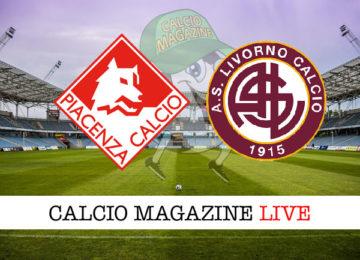 Piacenza Livorno cronaca diretta live risultato in tempo reale
