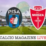 Pisa Monza cronaca diretta live risultato in tempo reale